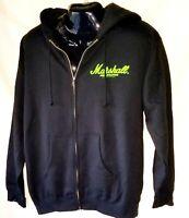 Marshall Amplification Zip Up Hooded Sweatshirt Guitar amp co. Mens Large blk.