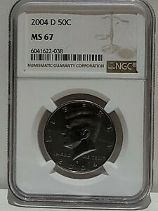 2004 D Kennedy Half Dollar NGC MS67