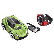 2.4G Voice Command Car Smart Watch Remote Control RC Racing Toy Car Green New