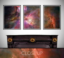 Orion Nebula NASA Astronomy Metallic 3 Panel Large Triptych Wall Art Print
