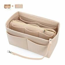 Purse Organizer Insert Felt Bag Fits LV 30 Speedy Neverfull Longchamp Tote Khaki