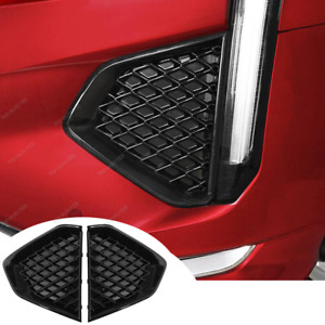 Glossy black front fog lamp Grille Grill Trim 2pcs For Cadillac CT4 Sport Sedan
