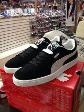 Puma Suede Classic+  Black - White  Mens US Size 11