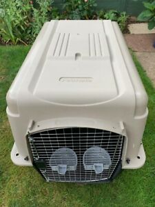 Large Dog Crate Petmate Sky Kennel Ultra - Silver Finish