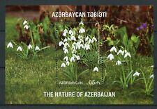 Azerbaijan 2017 MNH Nature Snowdrops 1v S/S VII Flora Flowers Stamps