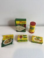 Barbie vintage 1960s Deluxe Reading Dream Kitchen packaged food knorr boxes