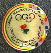 Singapore 2010 rare YOG Olympic BOLIVIA limited NOC pin
