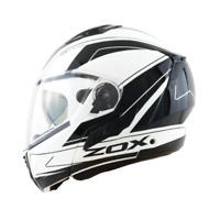 Zox Condor Elite SVS Modular Flip Up Motorcycle Helmet Matte White