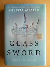 GLASS SWORD Victoria Aveyard SIGNED 1st edition RED QUEEN book 2 *vfine* B&N ed