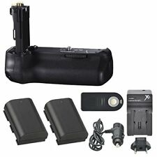 Canon BG-E14 Battery Grip with 2 Extra Batteries (LP-E6) + More