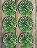 Leaves and Palms Drink Coasters Set of 6 Non Slip Neoprene