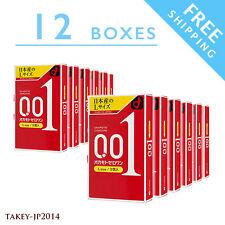 12boxes OKAMOTO ZERO ONE 0.01 L size Polyurethane Condom Japan 3pcs F/S Tracking