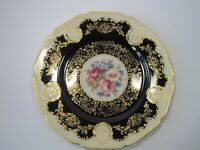 Black Knight Hohenberg Cobalt Blue Gold Floral Dinner Plate