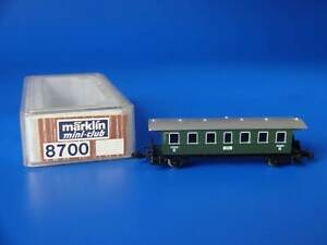 MARKLIN Z - 8700 - Green Passenger Car / BOX - LN
