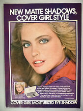 Cover Girl Eye Shadow Cosmetics PRINT AD - 1979 ~~ Kim Alexis