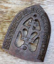 Antique Colebrookdale Iron Co Pottstown Pa Cast iron  Advertising Trivit