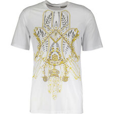 Versace COLLECTION Bianco Stampa Impresión Camiseta Tamaño XXL BNWT