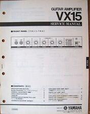 Yamaha VX15 Guitar Amplifier Original Service Manual, Schematics Parts List Book