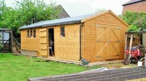 15x10ft Hi-pex workshop shed, 12mm T/G Shiplap
