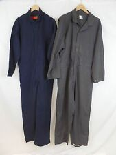 Lot of 2 Red Kap + Wearguard Men's 46x30 Grey Navy Long Sleeve Work Coverall