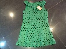 NWT Juicy Couture New & Genuine Girls Age 8 Green 100% Silk Sleveless Dress