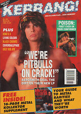 Steven Tyler of Aerosmith on Kerrang Cover 1993    Iron Maiden   Jimmy Page