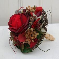 Blumenstrauß Biedermeier Strauß Rosenstrauß künstlich mit einer roten Rose 17 cm