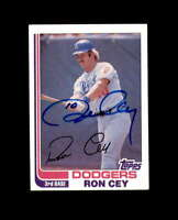 Ron Cey Hand Signed 1982 Topps Los Angeles Dodgers Autograph