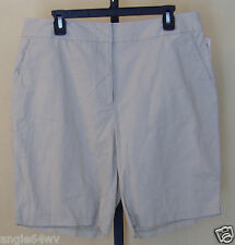 Basic Editions Womens Beige 100% Cotton Shorts Pockets Size 14 NWT 20707