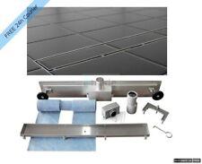 NEW Stainless Steel Floor Shower Linear Drain Wetroom Bathroom Channel Tile 70cm