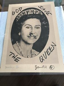 Jamie Reid Signed And Numbered God Save The Queen Swastika Eyes 332/750