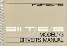 Porsche 911 1973 S Drivers Manual Betriebsanleitung Original