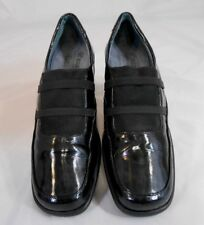 Romus Helle Comfort ABSORB FLY Womens Patent Leather Loafer Shoe Black Size 41