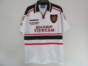 Original Manchester United David Beckham Away Shirt Premier Champions 1996/97