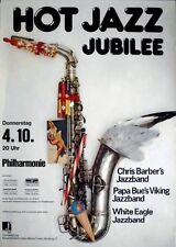 Hot Jazz Jubilee 1984 Concert Poster-Chris Barber-Papa Bue-WHITE EAGLE