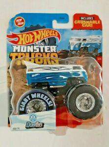 2020-Hot Wheels-Monster Trucks-HW Flames-#5/5 VW Drag Bus-New for 2020-1:64-Boys