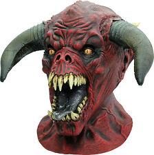 BRAND NEW Horned Hell Beast Satan Monster DELUXE ADULT LATEX BEHEMOTH DEVIL MASK