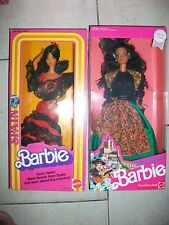Lot of 2 SPAIN Barbie 1980 & SPANISH  Barbie Dolls of the World 1st Ed & 2nd