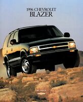 1996 Chevrolet Blazer 30-Page Original Dealer Sales Brochure Catalog