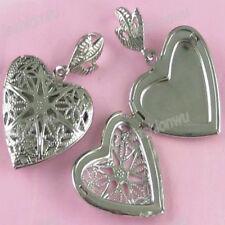 Lot 20 Pcs Carve Heart Photo Locket Frame Pendant 1