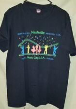 VTG SCREEN STARS NASHVILLE MUSIC CITY 50/50 Short Sleeve T-Shirt XL USA