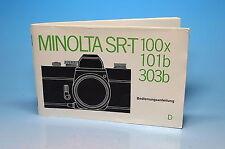 Minolta SR-T 100x 101b 303b Bedienungsanleitung Gebrauchsanweisung - (100769)