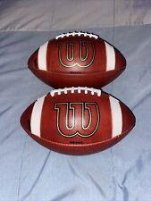 Wilson Gst 1003 Leather Football Bundle.