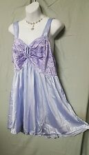 """Woman Within Short Sexy Purple Lace Nylon Babydoll Nightgown Sz 3X 50"""" BUST"""