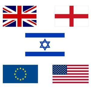 Union Jack Flag England UK EU USA American Israel Sport Game Country 36 x 60 in