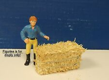 Two Hay Bale sun baked natural color (1:18 to 1:24 Scale ) Diorama