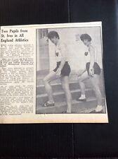 G5-1 Ephemera 1966 Picture St Ives Athletes Paul Bates Andrea Davison Lelant