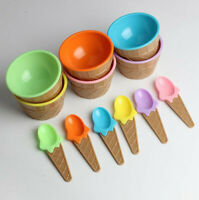 12PC kids Ice Cream Bowls Ice cream Cup Couples Bowl Gifts Dessert With A Spoon