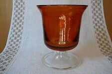 2 x Windlicht Vase Kelch Dekoschale Glas Glasschale braun