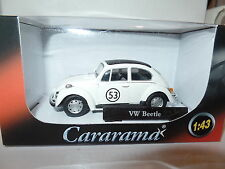 Cararama Oxford 1/43 O Scale Volkswagon VW Beetle White Herbie 53